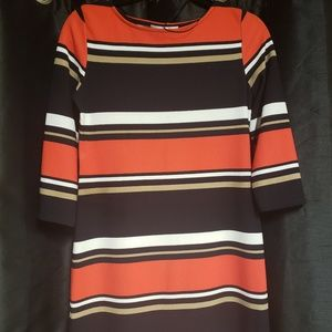 Sandra Darren Blue Red Dress  Size 4 NWOT